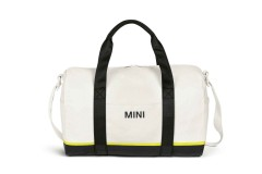 Сумка MINI Tricolour Block Duffle Bag, біло-чорно-жовта