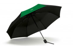 Складна парасоля MINI Contrast Panel, чорно-зелена