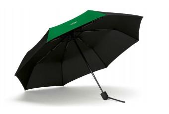 Складана парасоля MINI Contrast Panel, чорно-зелена
