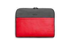 Сумка для ноутбука MINI COLOUR BLOCK, червоно-сіра