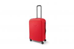 Велика валіза на коліщатках MINI, червона