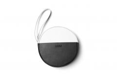 Кругла сумка MINI ROUND COLOUR, чорно-біла