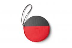 Кругла сумка MINI ROUND COLOUR, червоно-чорна