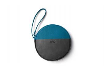 Кругла сумка MINI ROUND COLOUR, чорно-синя
