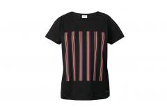Чорна жіноча футболка зі смужками MINI JCW