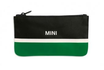 Гаманець на застібці MINI, чорно-зелено-білий