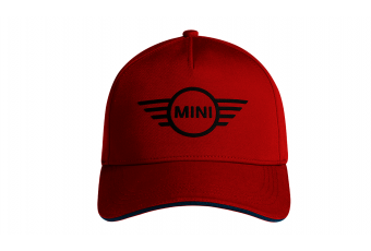 Бейсболка MINI Cap Contrast Edge Wing Logo, червоний / синій