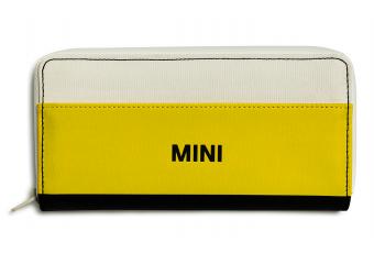 Гаманець MINI COLOUR BLOCK, білий / жовтий