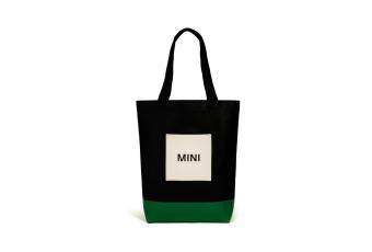 Сумка для покупок MINI, чорна / зелена