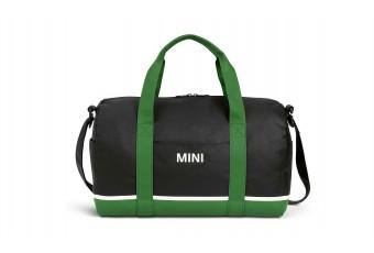 Сумка MINI Tricolour Block Duffle Bag, чорно-зелено-біла