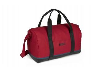 Сумка MINI Tricolour Block Duffle Bag, червоно-чорно-синя