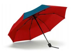 Складана парасоля MINI Contrast Panel, червоно-синя