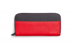 Гаманець MINI COLOUR BLOCK, червоно-чорний
