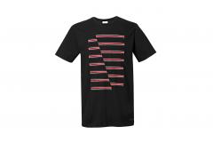 Чорна чоловіча футболка з смужками MINI JCW