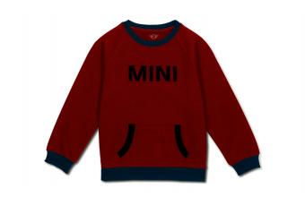 Світшот дитячий з лого, червоний