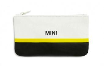 Гаманець на застібці MINI, чорно-біло-жовтий