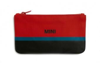 Гаманець на застібці MINI, чорно-червоно-синій