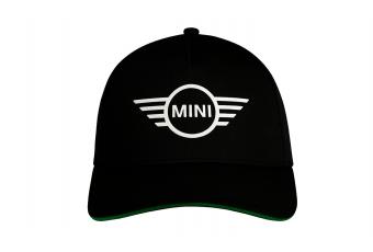 Бейсболка MINI Cap Contrast Edge Wing Logo, чорний / зелений