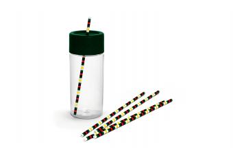 Пляшка з отвором для трубочки MINI COLOUR BLOCK, зелена