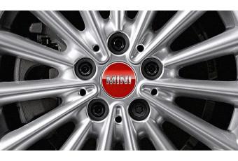 Комплект накладок для колісних дисків MINI Chili Red, червоний